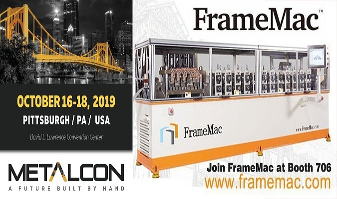 美国 Metalcon 2019 FRAMEMAC 参展